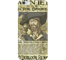 WANTED - Hector Barbossa iPhone Case/Skin