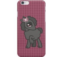 Black skull bow sheep iPhone Case/Skin