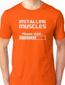 Installing Muscles Please Wait Loading Bar Unisex T-Shirt