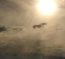 sunset on a cloudy day by Rosemarie