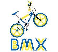 BMX (Blue & Yellow) Photographic Print