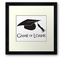Game of College Graduation Loans Framed Print