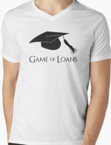Game of College Graduation Loans Mens V-Neck T-Shirt