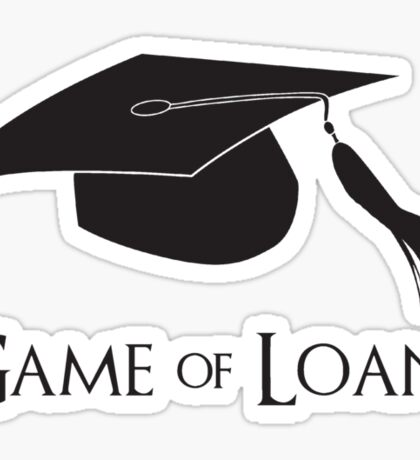 Game of College Graduation Loans Sticker