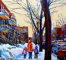 FAMOUS CANADIAN PAINTINGS OF URBAN LIFE BY CANADIAN ARTIST CAROLE SPANDAU by Carole  Spandau