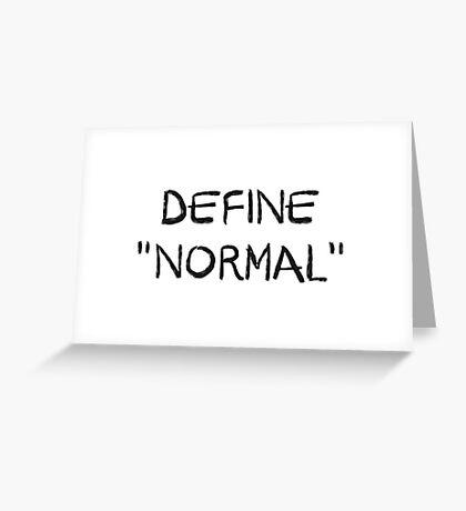 Define Normal Greeting Card