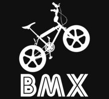 BMX Silhouette (White) by Paulychilds