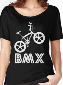 BMX Silhouette (White) Women's Relaxed Fit T-Shirt
