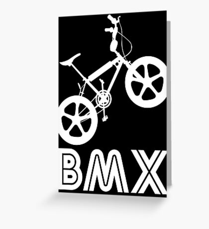 BMX Silhouette (White) Greeting Card