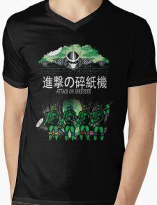 Attack on Shredder (All Turtles) Mens V-Neck T-Shirt
