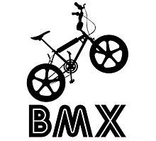 BMX Silhouette (Black) Photographic Print