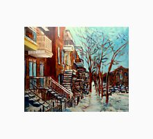CANADIAN WINTER URBAN SCENE PAINTING CAROLE SPANDAU Unisex T-Shirt