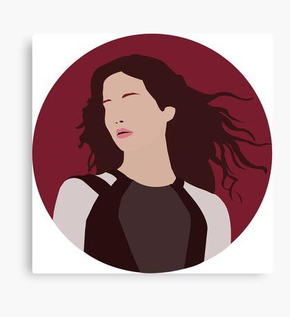 Katniss Everdeen Illustration  Canvas Print