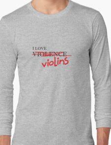 Violin Violence Long Sleeve T-Shirt
