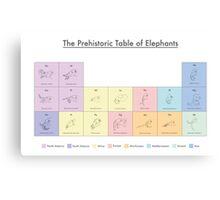 The Prehistoric Table of Elephants Canvas Print
