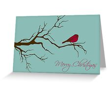 Merry Christmas Branch Greeting Card