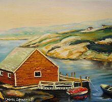 BEST CANADIAN PAINTINGS OF PEGGY'S COVE BY CANADIAN ARTIST CAROLE SPANDAU by Carole  Spandau