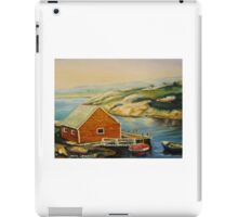 BEST CANADIAN PAINTINGS OF PEGGY'S COVE BY CANADIAN ARTIST CAROLE SPANDAU iPad Case/Skin