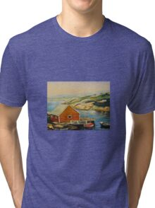 BEST CANADIAN PAINTINGS OF PEGGY'S COVE BY CANADIAN ARTIST CAROLE SPANDAU Tri-blend T-Shirt