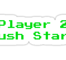 Player 2 Push Start Sticker
