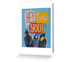 Hey, Thank You! Greeting Card