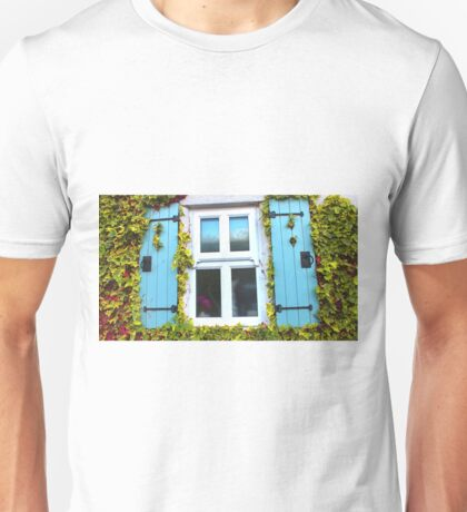 Cottage Window and Ivy Surround Unisex T-Shirt