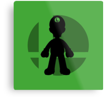 Smash Bros - Luigi Metal Print