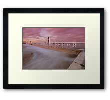Merewether Baths at Dusk 5 Framed Print
