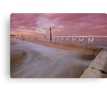 Merewether Baths at Dusk 5 Canvas Print