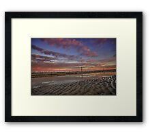 Merewether Baths at Dusk 6 Framed Print