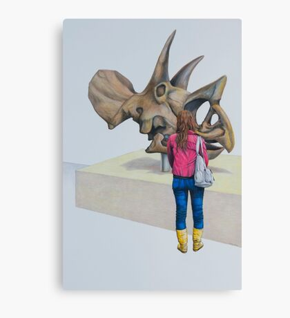 Museum X (Triceratops), Pencil on paper, 57x39cm, 2013. Canvas Print