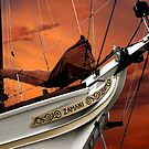 Red sails in the sunset by Mugsy