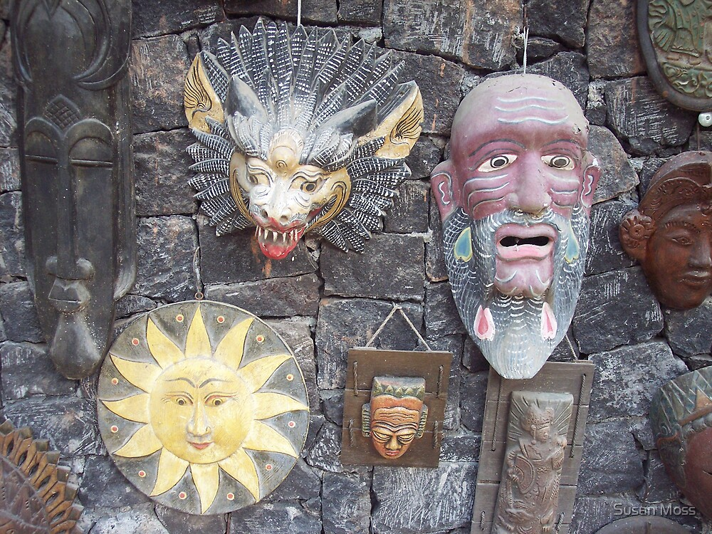 Textures of Bali  9 by Susan Moss