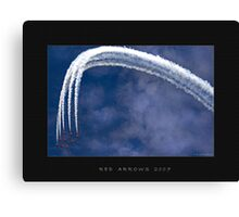 Red Arrows Air Display Canvas Print