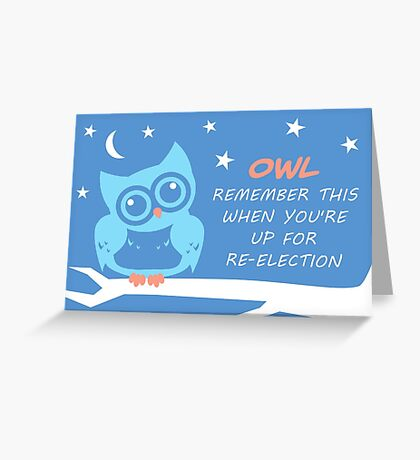 Owl Remember Greeting Card