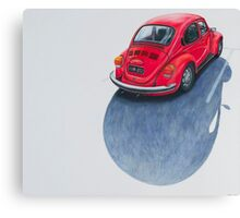 Red Beetle, Pencil on paper, 43x50cm, 2013. Canvas Print