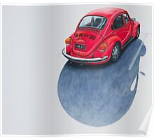 Red Beetle, Pencil on paper, 43x50cm, 2013. Poster