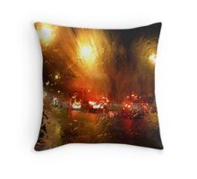 Coloured Rain Throw Pillow