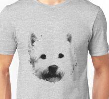 West Highland White Terrier Westie Digital Engraving Unisex T-Shirt