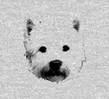 West Highland White Terrier Westie Digital Engraving Unisex T-Shirt
