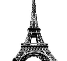 Eiffel Tower Digital Engraving by digitaleclectic