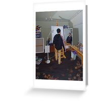 Self Portrait (Mass Effect Hoodie), 2014, Oil on Linen, 121 x 91.5cm. Greeting Card