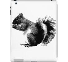 Squirrel Eating Acorns. Wildlife Digital Engraving Image iPad Case/Skin