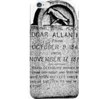 Edgar Allan Poe Tombstone. Creepy Halloween Digital Engraving Image iPhone Case/Skin