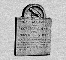 Edgar Allan Poe Tombstone. Creepy Halloween Digital Engraving Image Hoodie