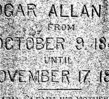 Edgar Allan Poe Tombstone. Creepy Halloween Digital Engraving Image Sticker