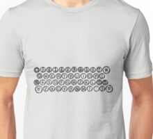Vintage and Antique Typewriter Keys Unisex T-Shirt