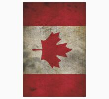 Grunge Canada Flag Kids Clothes