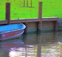 Rowboat in Autumn Sticker