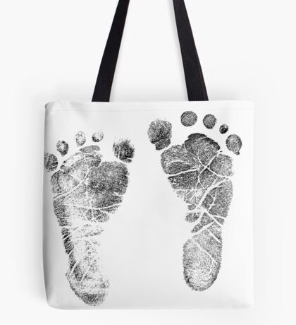 Baby Footprints. Adorable Baby Feet Perfect For New Baby Boy or Baby Girl Tote Bag
